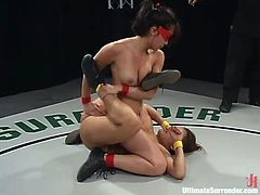 Crimson Ninja holds another victory and toys Annie Cruz