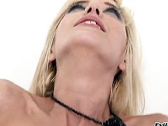 Ian Scott makes Blanche gag on his thick fuck stick before she takes it in her anal hole