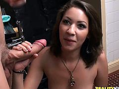 Money Talks never gets old! Watch these sexual fetishism and then take a look at this brunette first public sex moments. She is confused but really turned on.