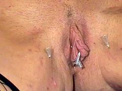 Blonde serf waxed and piercing inside messy pain pleasure films of english fetish Centerfold Crystel Lei