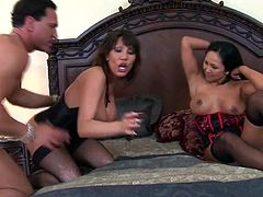 Ava devine and another milf slut share a hard cock