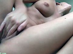 Beautiful Nikki Daniels fingers pussy deep