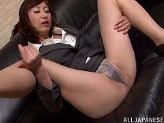 A provocative Japanese milf gets her pussy licked and eaten out by some horny fucker in this awesome scene right here! Check it out!