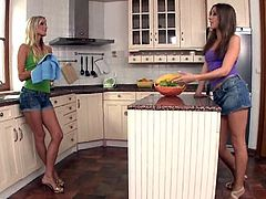Two Hot Lesbians Having Fun in the Kitchen