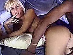 Anita Blonde is one hot blonde that loves a big black cock in all her holes.