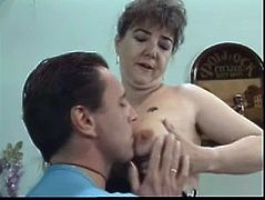 Mature nasty slut attacks her neighbor to get wild hardcore sex and he couldn't resist her. He let this hoe Karoline to blow his hard boner before hardcore fucking