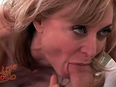 Milf sex with pornstar Nina Hartley