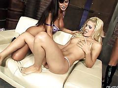 Lisa Ann and Amelie and enjoy lesbian sex too much to stop