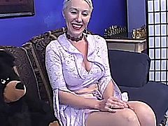 Mature Beauty Satisfies Two Hung Studs /  Dalny Marga