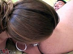 Allison loves strawberries and whip cream but not as much as she likes licking ass! She puts some whip cream on the guy's anus, takes a strawberry, inserts it in her anus and then eats it. Now she's getting a taste and sucks his cock with chocolate syrup! Watch out Allison, you may get fat and facialized!