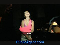 This kinky girl loves money and sex like most of the chicks. So, she fucks for money with some dude in the street. She gives him a blowjob and then gets fucked from behind.