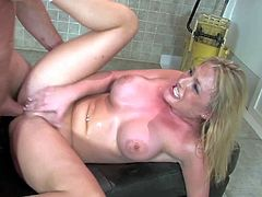 Young hot ass blonde bimbo Tristyn Kennedy with big juicy boobs and cute face gets naked while teasing Otto Bauer and has loud orgasms while he drills her cunny balls deep.