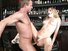 Lexi Belle cant resist the desire to take throbbing love wand in her mouth