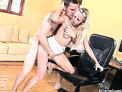 Carla Cox and horny man are two sex addicts that make each other happy in hardcore sex action