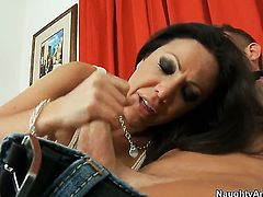 Amy Fisher with juicy melons and shaved muff getting slam fucked hard and deep by Bill Bailey