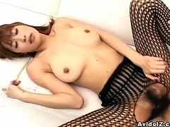 Some hardcore from Japanese prodiction! Sizzling and amazing honey gives a nice head and then sticks that cock in her beaver!