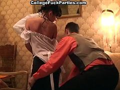 Old gangster style orgy with sassy housemaids and gentlemen