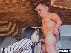 Erika is a small chick but good things come in small packages, as small as Zezino. This horny little midget is about to fuck Erika's pussy so hard that she will have the impression a hunk fucked her. See her fed with cock, ass licked and much more as our dirty midget gives his best to please her.