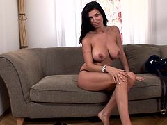 Astounding Tifany amazes with her superb nude forms during top casting for porn scene