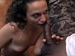 Interracial double penetration for a lusty siren Brynn Lee! She blows these monster cock and they fuck her, having licked her twat. Amazing!