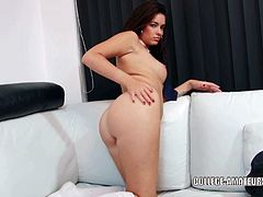 Ava Dalush is a curvy college girl who uses a very effective toy on her clit. Her big vibrator never fails.