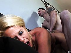 Grace Evangeline loves the way guy fucks her love hole...