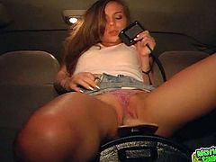 Press play on this amateur video and watch this horny babe moan as she takes a ride on sybian as you hear her moan.