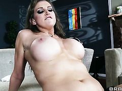 Eve Laurence with juicy boobs shows her slutty side to hard dicked fuck buddy Keiran Lee