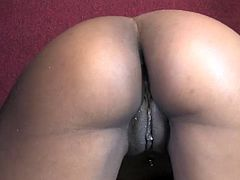 This lovely chick with big tits and hot ass is fingering her tight shaved cunt and then sucking and fucking big stiff dong.