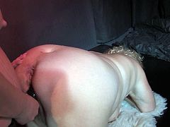 These extremely perverted mature women are horny as hell. They fuck each other with a strapon in this hot threesome sex video.