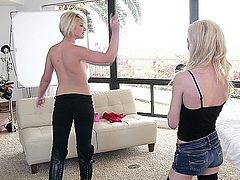 Sleek and sexy Winter Marie is the next girl to be interviewed by Skylar Green for her chance to be a Nubiles girl! Winter prefers to conduct her interview without a shirt in just her bra, and soon she needs to even take that off so that her small boobs and puffy nipples are fully exposed.