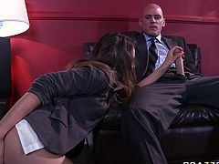 Watch this hot and sexy babe Allie Haze getting banged in her wet and tight pussy by her bold friend who loved her backholes in Brazzers Network sex clips.