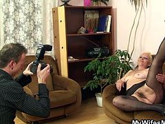 Melita wants a few sexy pics of herself so she asked my to take them. She's my wife's mom and damn, the old broad still looks hot. Look at her, playing with her boobs and pussy in front of the camera. Something tells me that this bitch wants more then just a few naughty photos! Maybe she wants my hard cock!
