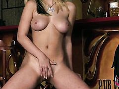 Marry Queen with massive knockers and shaved bush cant live a day without toying her love tunnel