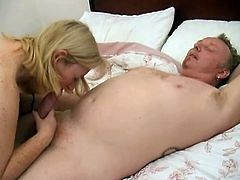This mature tattooed and pierced slut only think about hard cock in her devastated cunt. She sucked this lucky dudes cock and rides him hard before he cum on her tits