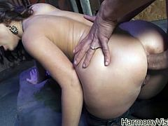 Take a look at this brutal anal scene where the busty brunette Liza Del Sierra has her tight asshole drilled by this guy's thick cock.