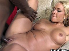 She came in his friends house but there was several horny black dude with huge cocks. She let them fuck to all of her holes and cum on her face.