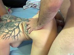 Lucky Ralph Long fucks busty Bridgette B and Casey Cumz. These horny chicks suck a dick and sit on his face. Of course he also fucks them in their wet pussies.