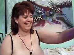 Plump mature bitch Jenny Joyce is having fun with some old man in a bedroom. She lets the guy eat her shaved cunt and then they have sex in missionary and other positions.