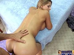 Torrid blondie Brianna Beach receives hard doggy style fuck