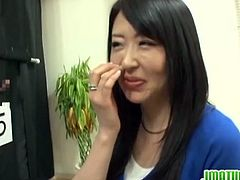 Watch this kinky Japanese game show in which this mature brunette babe has to guess her hubby's cock behind and wall and if she choose the wrong cock, the participants will fuck her.And guess what she choose the wrong cock.Lucky for us!