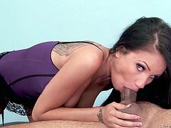 Blowjob is what you like watching! Stunning Raven Bay is going to whoop it out and suck it so hot! She knows how to do it.