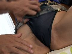 Leg spread long haired small boobs Asian chick with big ass got her smelly slit tenderly licked by several fuck starving dawgs. Watch this Asian hairy pussy licking in Jav HD porn clip!