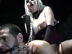 Syren Sexton loves keeping men in chain! So, here is one more dude, who is under her wild wild passion! He gets tortured, if he doesn't fuck her the way she wants.