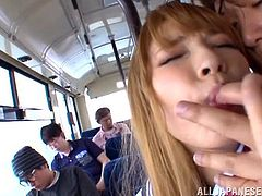 She's a sweet 18 year old girl that is about to discover in what a twisted and perverted world she lives in. Not only that she finds out the hard way, this teen cutie likes it! Here she was, in a public bus, when this pervert raised her skirt and fingered her young snatch, kissed her and fingered her ass again.