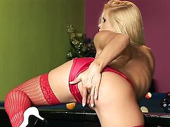 Gitta Szoke with juicy melons and shaved pussy cant stop fingering her honeypot