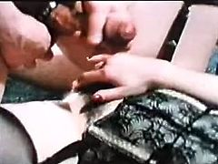 Thick black haired mommy rubs her clit while one dude properly fist fucks her soaking wet hairy pussy. At the end brunette mistress rides her slave's dick in reverse way.