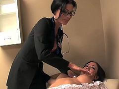Capri Cavanni went to her female doctor to get her pussy inspected. It all started as usual, but soon they ended up sucking and fingering their tight pussies.