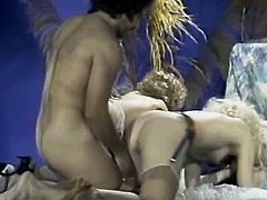 Light haired full bosomed voracious scarlet whoes received hardcore anal invasion of their loose saggy booty holes and kitties. Take a look at this amazing FFM fuck in The Classic Porn sex clip!
