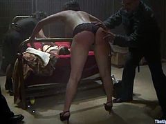 Slutty chick Lilla Katt is playing dirty games with Mark Davis a some kinky people. Lilla gets bound and enjoys toys and cocks in her hot holes.